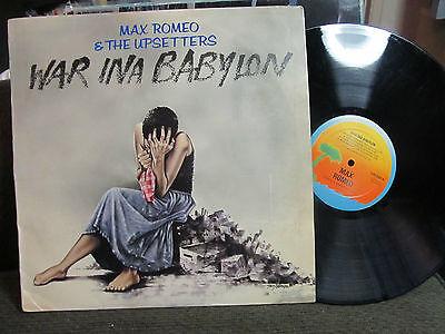 MAX ROMEO & THE UPSETTERS WAR INA BABYLON LP ILPS9392 lee perry reggae '76 rare!