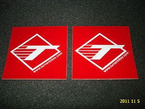 2-AUTHENTIC-TURNER-BICYCLES-RED-STICKERS-DECALS-AUFKLEBER