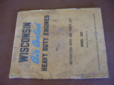 Wisconsin Engine Rebuild Instructions Parts Manual Model Abs