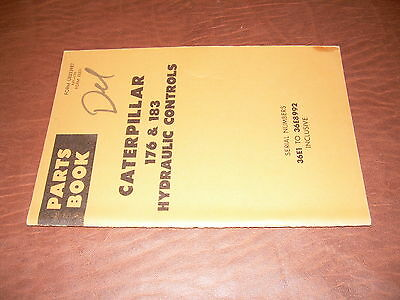 CAT CATERPILLAR 176 183 D8  TRACTOR HYDRAULIC CONTROL PARTS BOOK S/N 36E