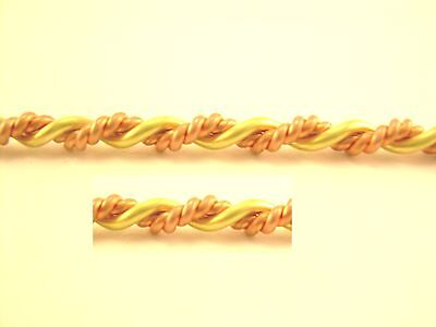 Two Tone Fancy Double Twisted Approx. Diameter: 2.5 Mm / 2.5 Ft (20+18 Cb)