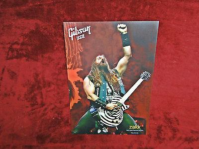 Zakk Wylde Gibson Guitars Poster    OZZY