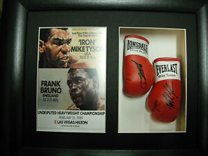 Mike-Tyson-Frank-Bruno-Mini-Signed-Boxing-Gloves-Framed