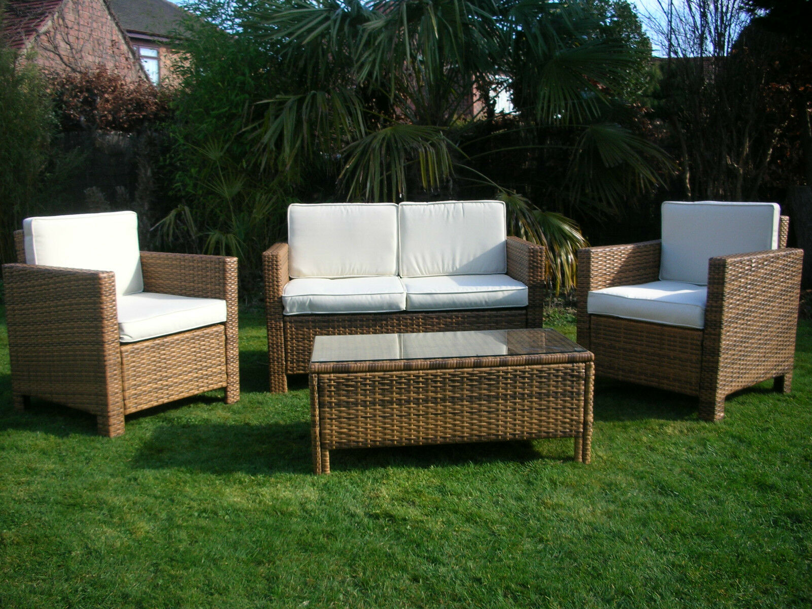 New garden rattan wicker outdoor conservatory furniture for Bamboo furniture uk