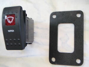 WIPER-SWITCH-WITH-PSC11-PANEL-BOAT-PART-CARLING-V1D1-1-RED-LENS-BLACK-CONTURA-II