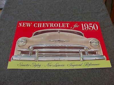 1950 Chevrolet Car Sales Catalog Color Must Have Item