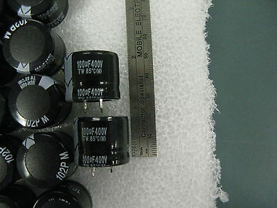 High Voltage Electrolytic Capacitor, 100 Mf, 20 %, 400 V, 25x20mm, 5 Pcs