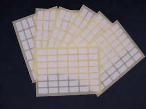 294 WHITE MINI LABELS STICKER SELF ADHESIVE PLAIN BLANK PRICE CODE STICKY SMALL