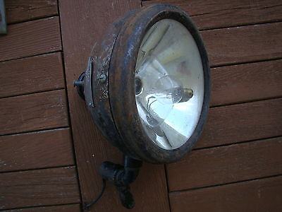 VINTAGE SEARCH OR spot Lamp LIGHT with Bracket 1920'S 1930'S RAT Hot Rod 7""