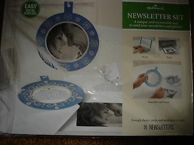 Hallmark Newsletter Set Memorable Way To Send Newsletters And Photos Blue Bulb