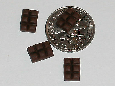2 Pc  Minature Dollhouse Chocolate Bars Food Candy Christmas Easter Valentines