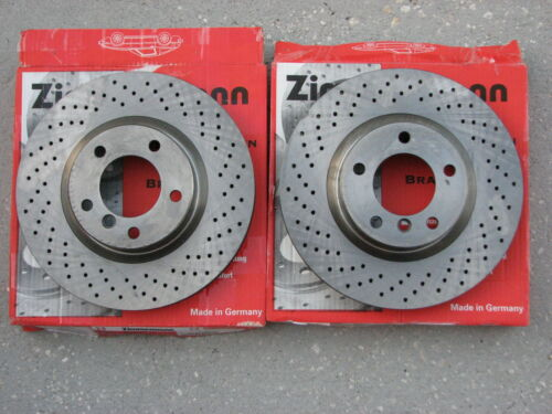 BMW Zimmerman Cross Drilled Front Brake Rotor Set E36 M3 Z3 M Coupe M Roadster