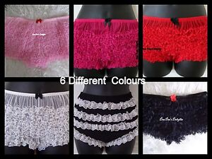 Ladies-Frilly-Ruffle-Knickers-Pants-Burlesque-Fancy-Dress-Hen-night-6-Colours