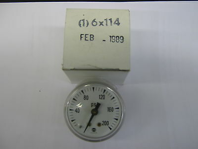 U. S. Gauge 0-200 Psi Face Pressure Gauge 1/8 Npt Connection