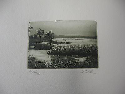 """""""See im Winter"""" Radierung signiert / nummeriert / coloriert 20 x 15 cm (22)"""