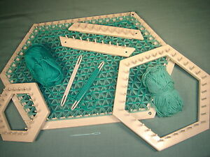 NEW Hexagon Lap Weaving  Love and money  Looms by John Alan (Guaranteed)