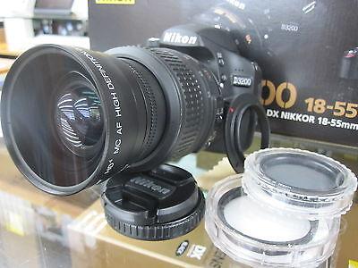 Wide Angle Macro Lens for Nikon d3300 d60 d3100 d7000 d5100 d5300 w/18-55 FLP