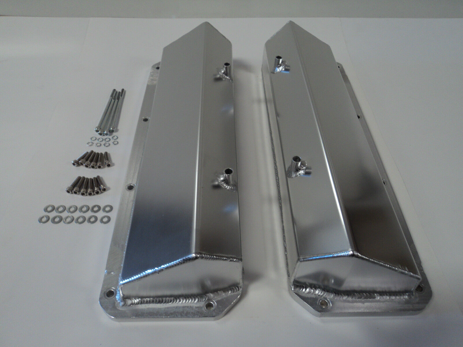 Ford 351c 351m 400m Fabricated Aluminum Tall Valve Covers Mustang Truck Car