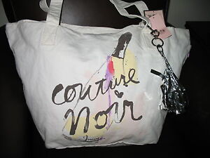 NWT-Juicy-Couture-Gen-Y-COUTURE-NOIR-Large-Canvas-Tote-Angel