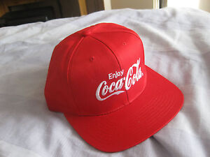 COCA COLA BASEBALL CAP  RED WITH SILVER LOGO 039Enjoy Coca Cola039  ADULT SIZE - chessington, Surrey, United Kingdom - COCA COLA BASEBALL CAP  RED WITH SILVER LOGO 039Enjoy Coca Cola039  ADULT SIZE - chessington, Surrey, United Kingdom