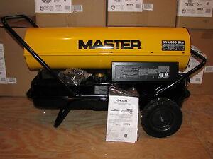 MASTER-115-000-Btu-KEROSENE-or-DIESEL-FORCED-AIR-HEATER