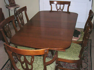 Antique mahogany 9 piece dining room set by r way for R way dining room furniture