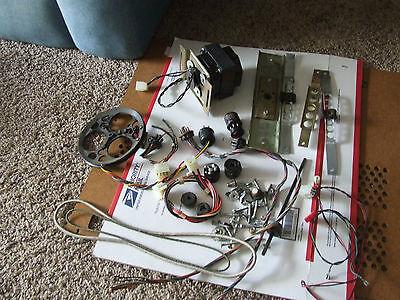 Big Leslie Parts Lot Motor Plugs Sockets Belts Bolts Hammond 122 147 910