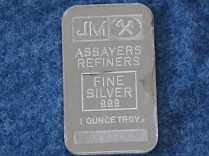 Johnson-Matthey-Rectangle-Silver-Bar-1-troy-ounce-999-fine-Serial-055366-B7472