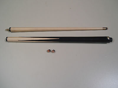 "2 PIECE 36"" HOME SNOOKER & POOL CUE + 2 FREE 11 mm TIPS"