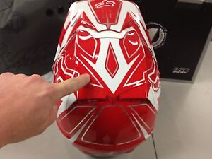 New  NIB Fox Racing V3 Pilot Motocross Retro Race MX Helmet XLarge XL Red White
