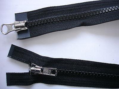 RV 253 - Reißverschluß schwarz, teilbar 2 Wege-RV 76 cm lang 1 Stück