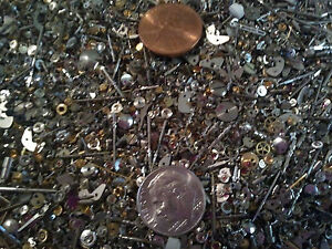 Steampunk-1-4-Pound-LB-WATCH-GLITTER-Extra-Tiny-Watch-Parts-Gears-Jewels-LOT