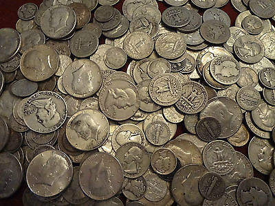 90% Junk Silver US Coins lot of 1/2 oz. Pre 1965 Coins standard wt not troy      on Rummage
