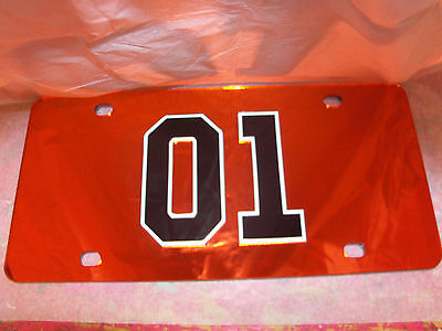 The Dukes Of Hazzard Mirror Laser License Plate Orange,black,white