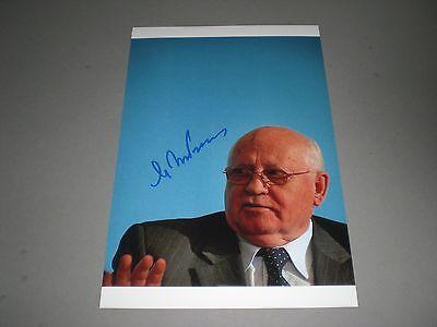 Michail Gorbatschow signed  signed autograph Autogramm auf 20x30 Foto