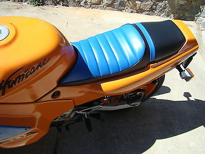 Honda Cbr600f Seat Cover Hurricane 1989 1990 Blue & Black Or 25 Colors (e/ps/w)