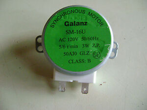 Microwave Oven Galanz SM-16U 120V AC 50/60Hz 3W Turntable Synchronous Motor RE4