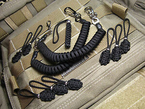 2-Lanyards-8-Zips-Fits-Maxpedition-Tad-Gear-5-11-Blackhawk-Condor-Tactical-EDC