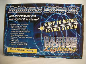Starter Wiring Kit 10 watt tramsformer MH40101 dollhouse electrical 1/12 scale