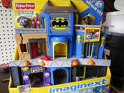 Fisher Price Imaginext Dc Super Friends Batman Gotham City Bruce Wayne Joker Set