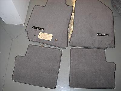 2003 - 2008 Toyota Corolla Carpet Floor Mats, Gray, OEM,   PT206-02041-11