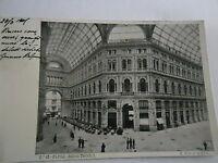 Napoli Galleria Umberto I Cartolina Animata Da Persone E Bar Viaggiata 30.5.1901 -  - ebay.it
