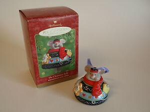 Hallmark-Keepsake-Ornament-2000-Christmas-Belle-Mouse-Bell-Holiday-Sweets-IOB
