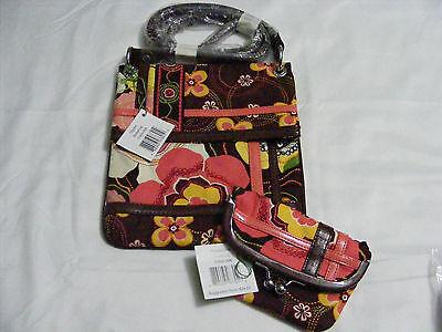 Vera Bradley Buttercup Hipster Flipster Crossbody Handbag Wallet Coin Lot