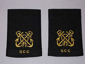 Sea Cadet Corps Trainee Petty Officer Gold Epaulettes Slides SCC