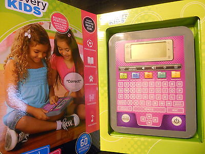 Discovery Kids Bilingual Eng Span 3+ Teach & Talk Tablet 60 Activities Pink