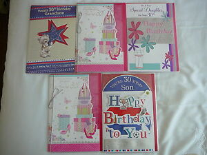 30TH-BIRTHDAY-CARD-MALE-FEMALE-DAUGHTER-SON-GRANDSON-GRANDDAUGHTER