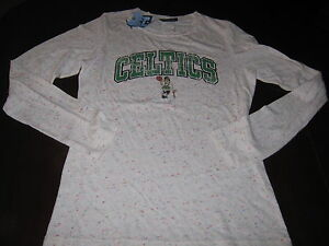 BOSTON CELTICS TRIBLEND MULTI COLOR LONG SLEEVE SHIRT WOMENS SMALL 5TH & OCEAN