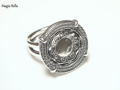 Shablool Didae Sterling Silver Stamped Coin Ring Size 6 .925
