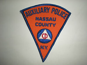 NASSAU COUNTY, NEW YORK AUXILIARY POLICE PATCH
